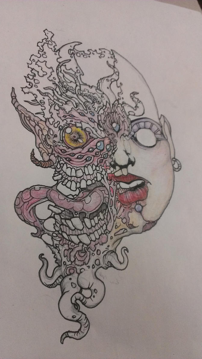 WiP Mutant Girl by krutch99