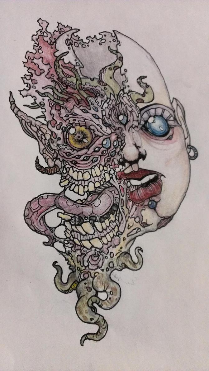 WiP Mutant Girl 2 by krutch99