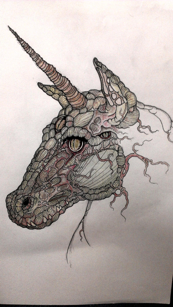 Reptilian Unicorn by krutch99