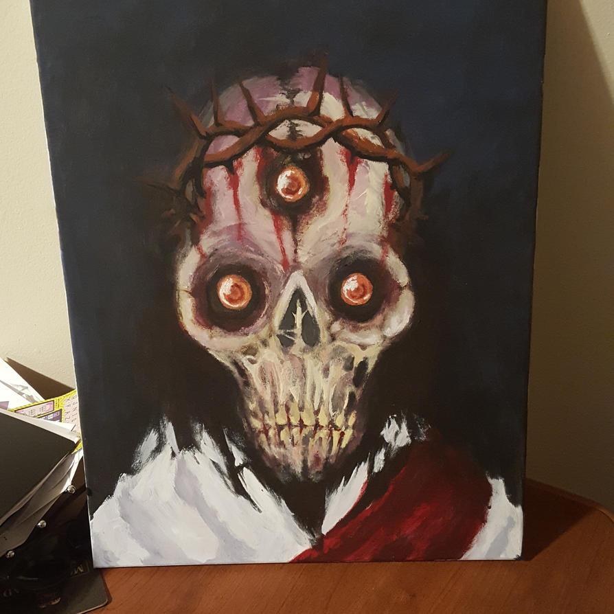 Alien Zombie Jesus by krutch99