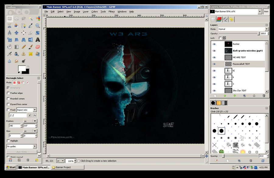 Progamerz tk banner using editing program gimp by for Art editing software