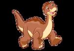 LittleFoot The Apatosaurus Transparent Render 2