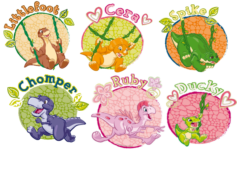 The Land Before Time Character Badges by ...