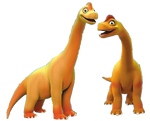 Ned And Bella Brachiosaurus Transparent Render