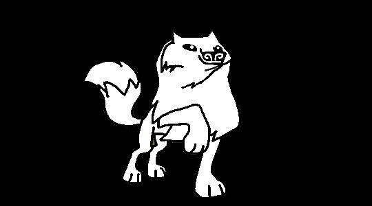 Animal Jam Arctic Wolf Doing A Fashion Pose Base By DigiPonyTheDigimon