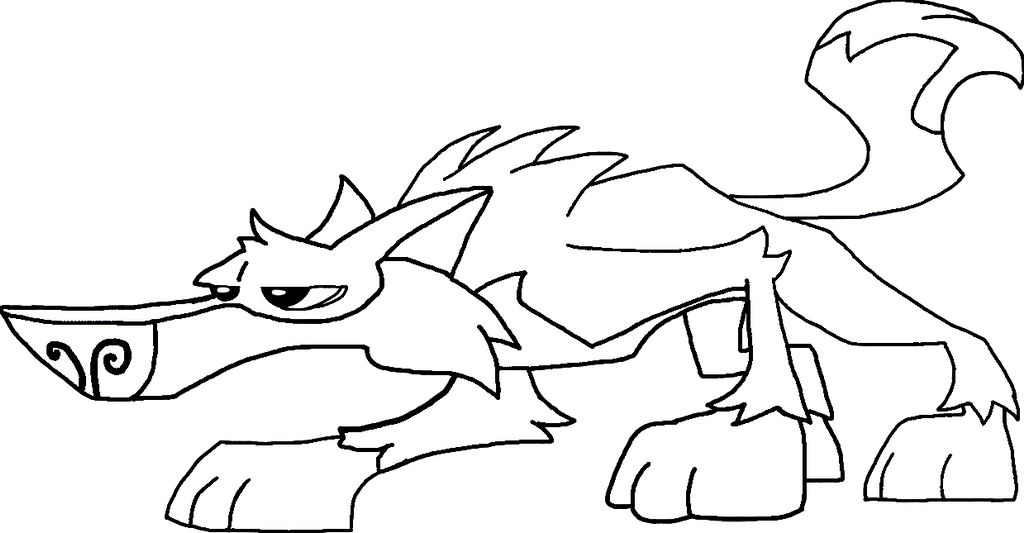 Animal jam wolves free coloring pages for Animal jam arctic wolf coloring pages