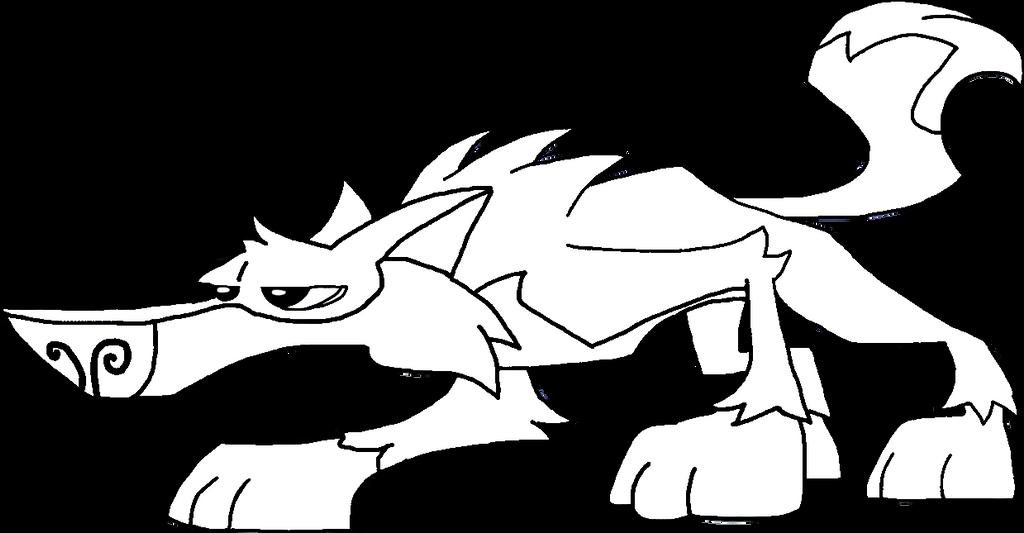 Animal Jam Wolf Crouching Down Base By DigiPonyTheDigimon