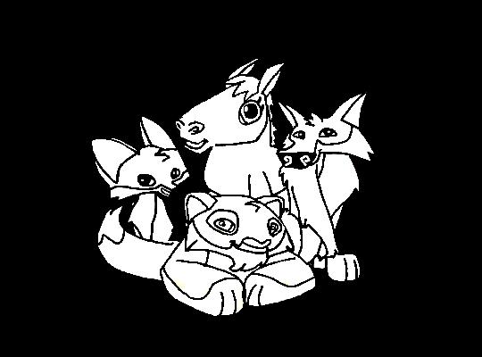 Animal Jam Animals All Together Base By Digiponythedigimon