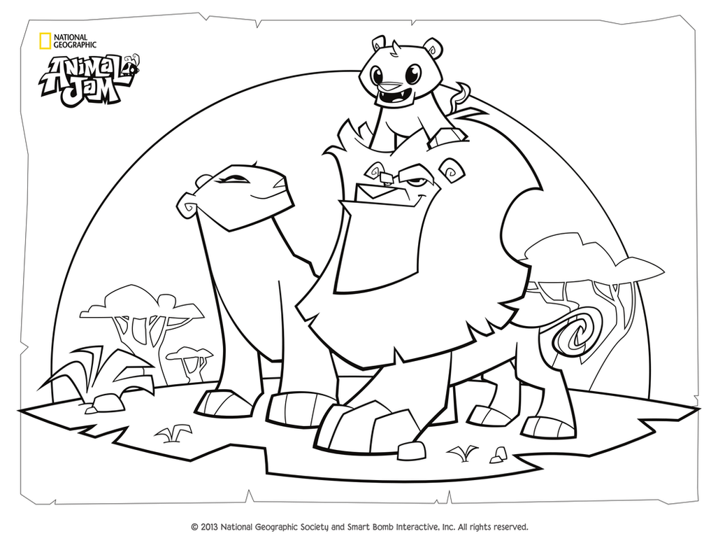Animal Jam Coloring Page Lion Family Backgrounds For Jam Of Pc Full Hd Pics By Digiponythedigimon On