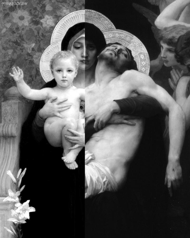William Bouguereau - Fusion De Pinturas (B/N) by MrShackra