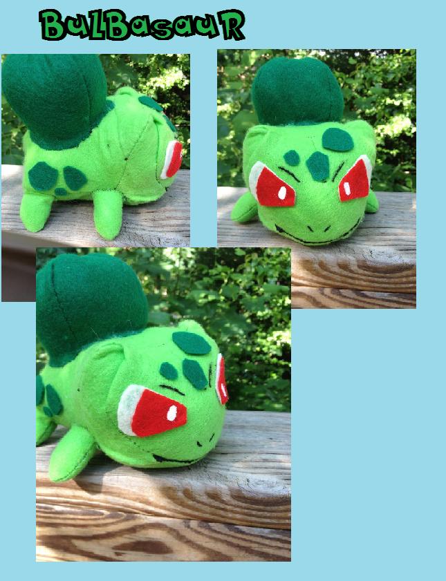 Bulbasaur Plush (pattern from when I was 10) by Kurosakou