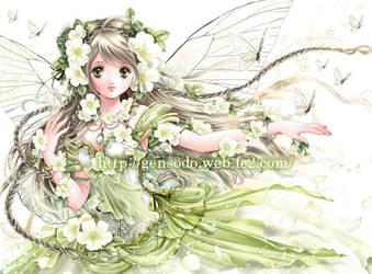 White rose fairy 2 by Shiitake-Gensodo