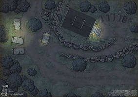 Forest crypt battlemap by N-Horizons