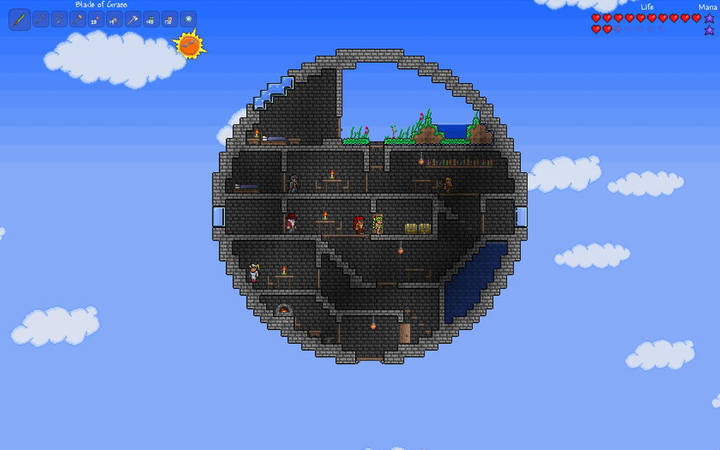 Terraria Floating Sphere House By Shinypuni On Deviantart