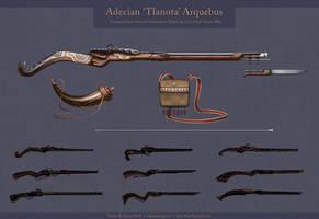 Adecian 'Tlanota' Arquebus by cael-illus