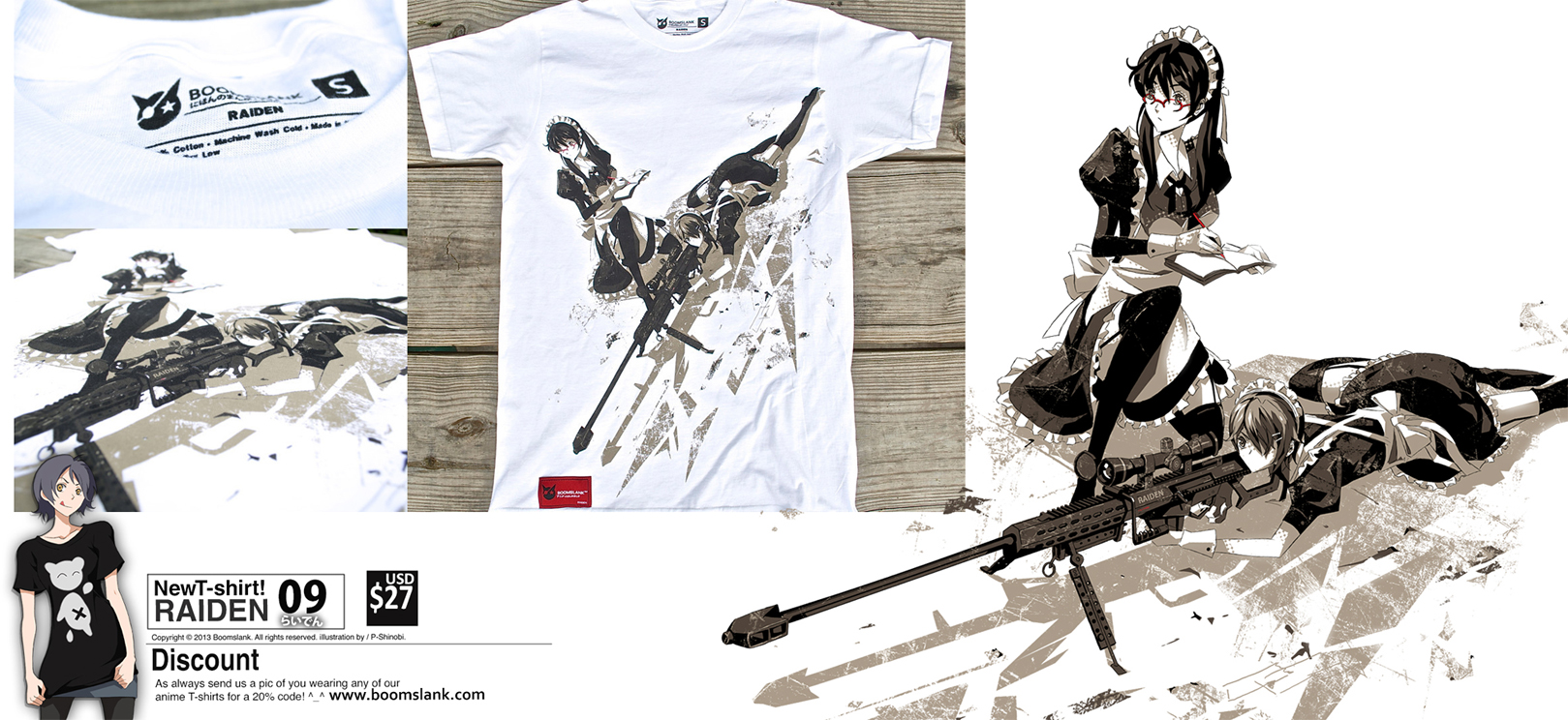 Raiden T-shirt by P-Shinobi