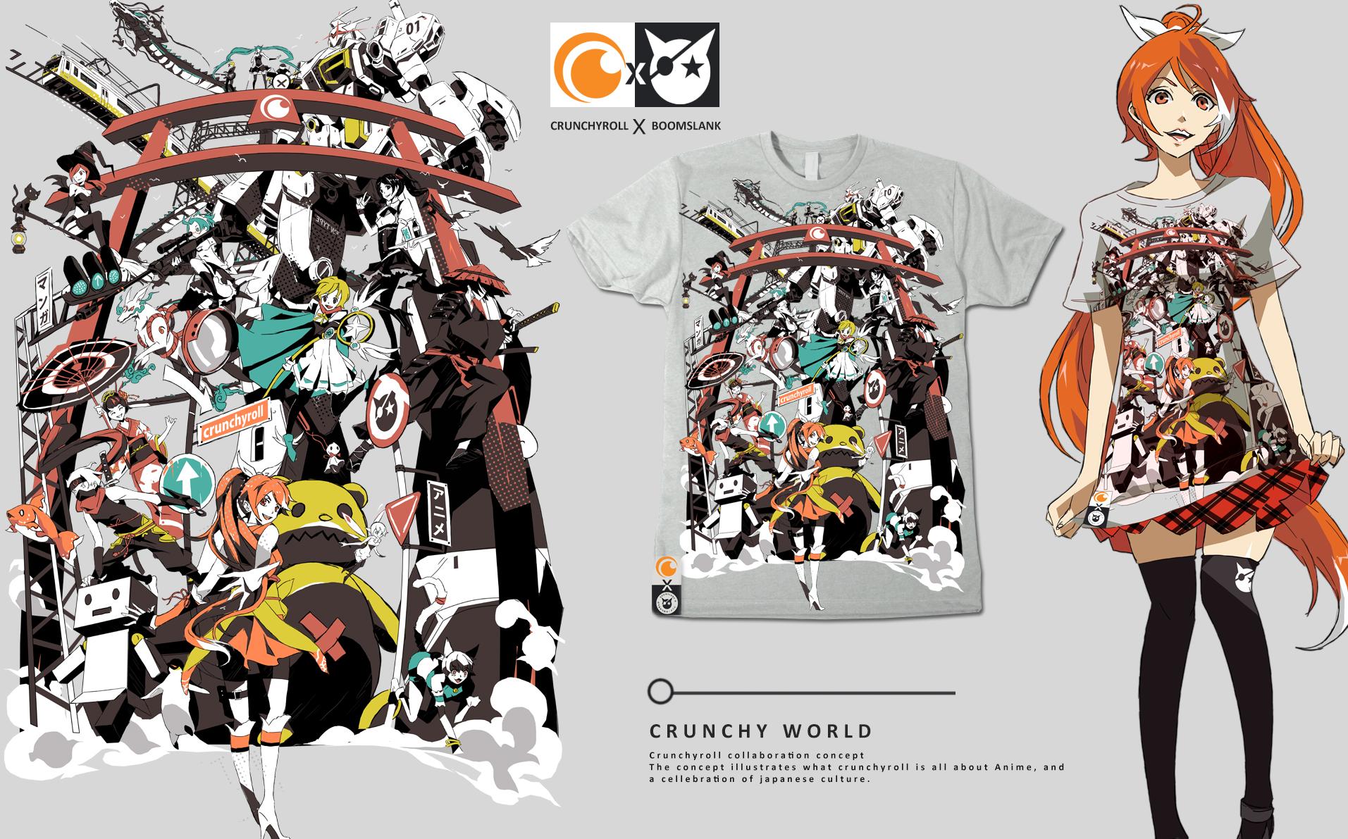 CRUNCHYROLL X BOOMSLANK By P Shinobi