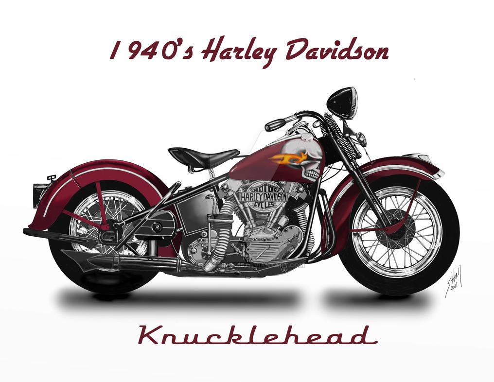 Harley Davidson: 1940's Harley Davidson Knucklehead By Steverino365 On