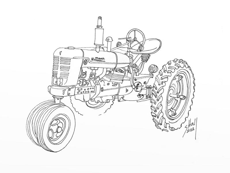 Line Drawings From D Models : Farmall model h by steverino on deviantart