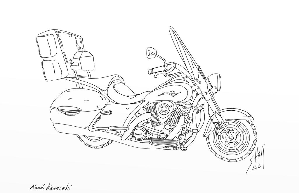 Digital Drawing Smooth Lines : Kawasaki vulcan nomad cc by steverino on deviantart