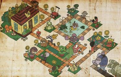 Doodle ZombiePlants by yureisan