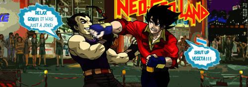 KOF - VEGETA vs GOKU by yureisan