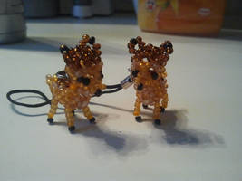 Beaded bambi and feline by Zoey-01