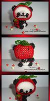 Panda bear as strawberry by Zoey-01