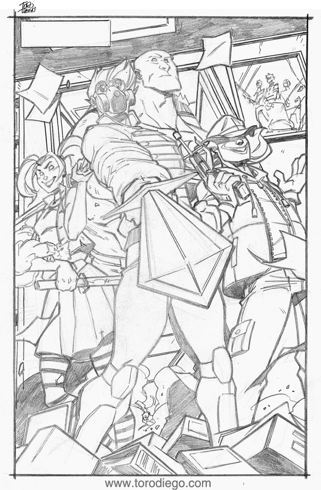 Comic Book page (Pencils) by dtoro
