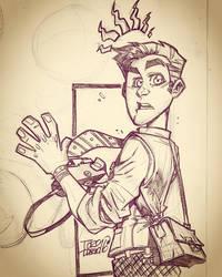 Peter Parker sketch by dtoro