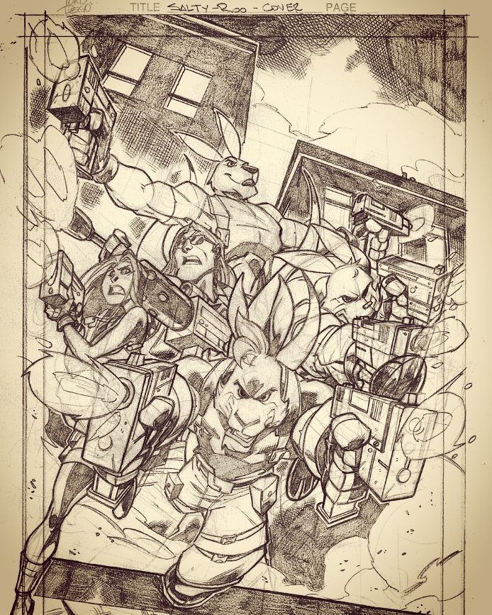 Salty Roo Cover pencils by dtoro