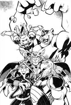 Avenger FantArt Inks