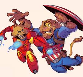 Iron Man Captain America FanArt