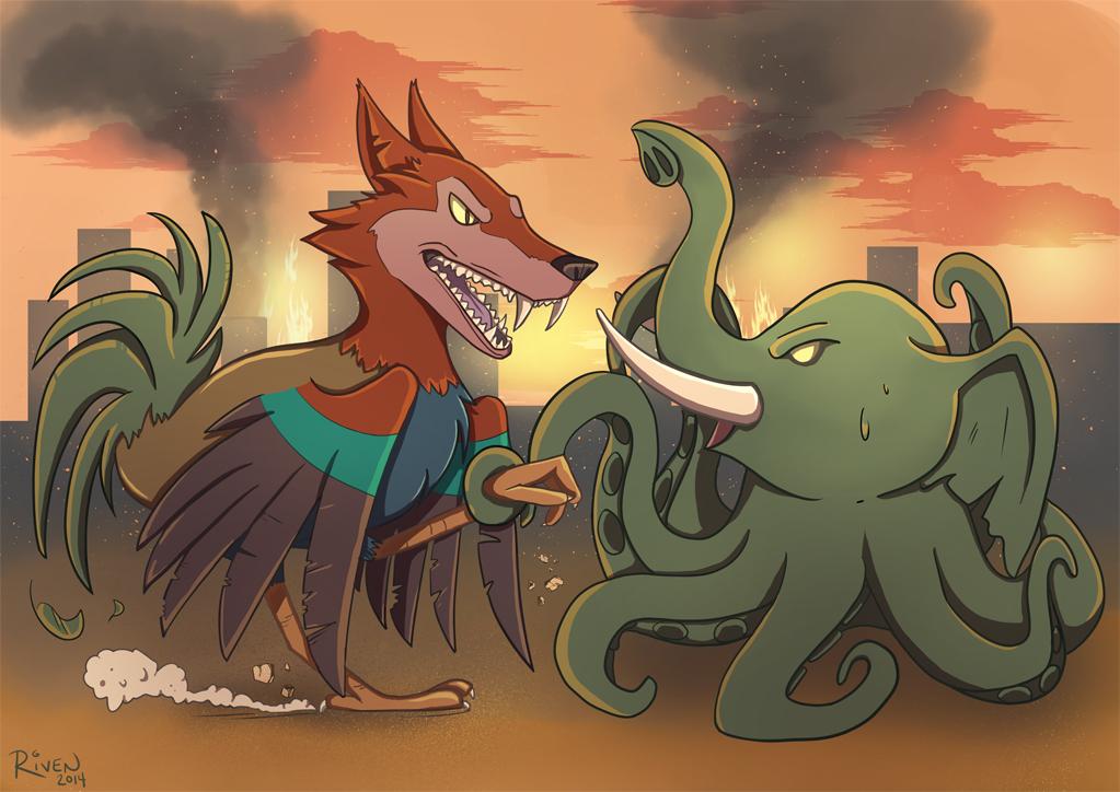 Wooster versus Elopus by ladyriven