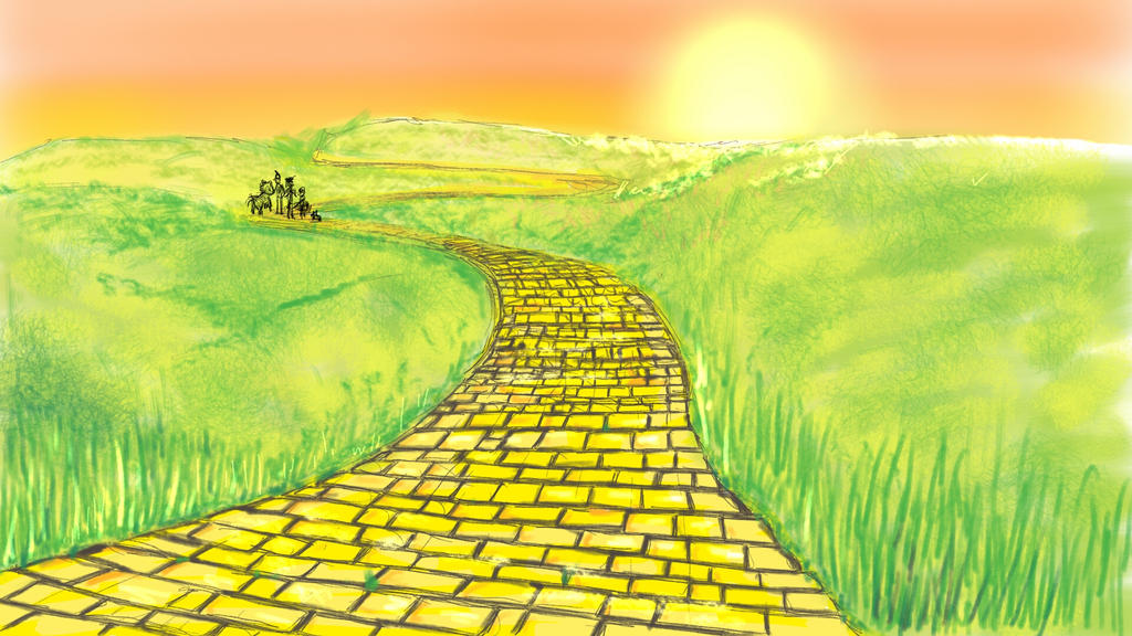 the yellow brick road by lapaowan on deviantart