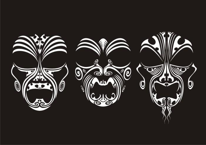 tribal masks by malcolmc on deviantart
