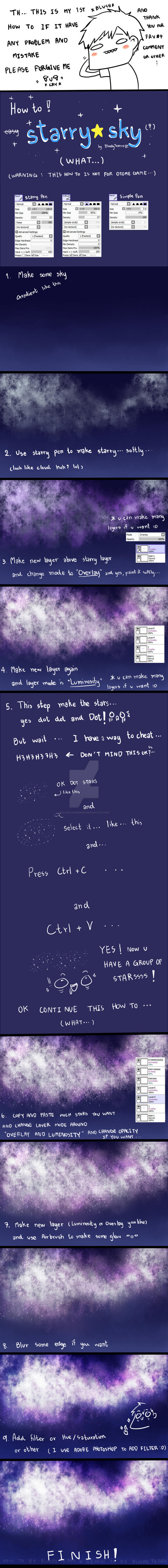 [How to SAI]Starry sky(?) by BloodyTearsMSN