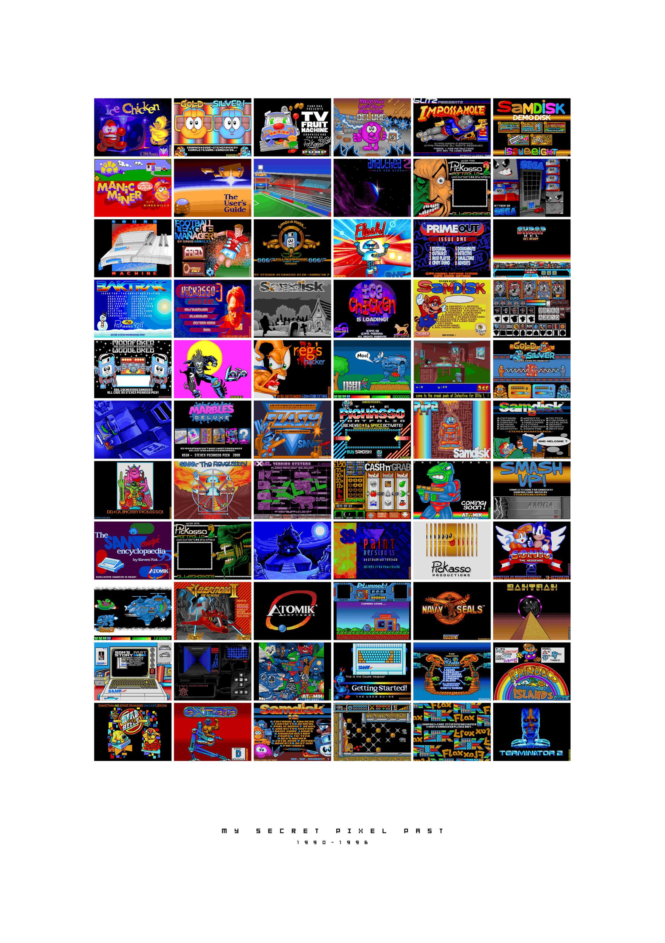My Secret Pixel Past 1990-1996 by pickassoreborn