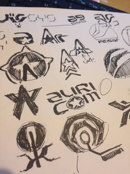 Wipeout Logos Of The Future Sketches