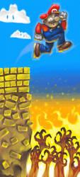 Mario's Glimpse Into Hell by pickassoreborn