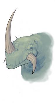 rhino monster sketch