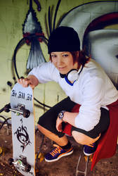 K - Yata Misaki and Skateboard