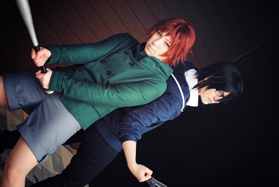 K - Misaki and Saruhiko by Majin-sama