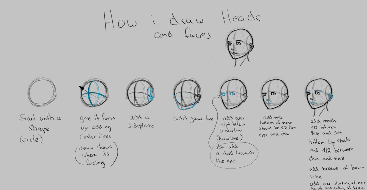 Head and face tutorial
