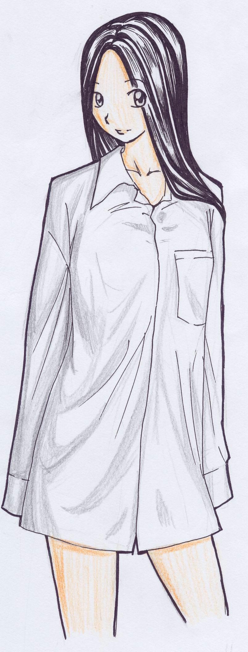 girl in shirt by teruterubozu849