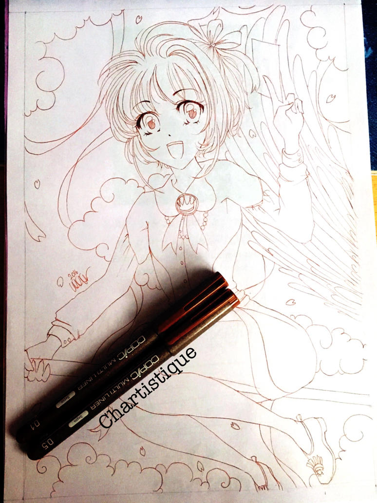 Cardcaptor Sakura lineart by lotjenya1
