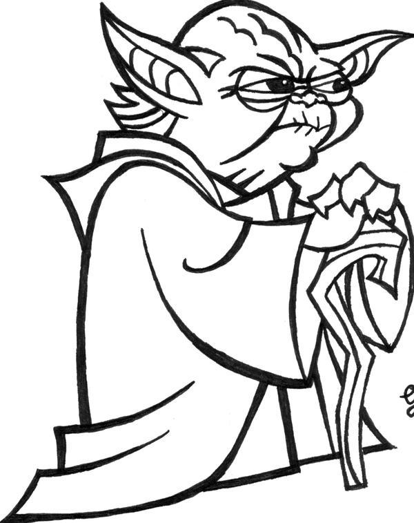 Line Art Yoda : Yoda cartoon by raphaelgbr on deviantart