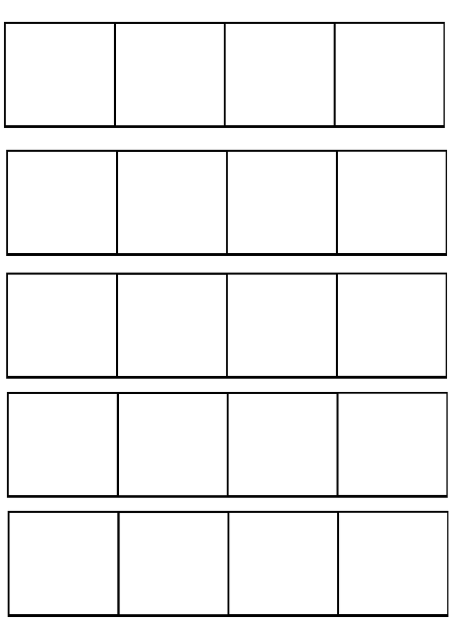 four panel comic strip template - 4 panel comic template by redkitebait on deviantart