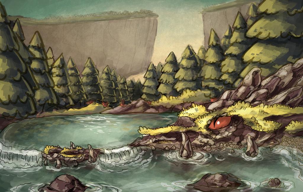 Mystery Falls by redkitebait