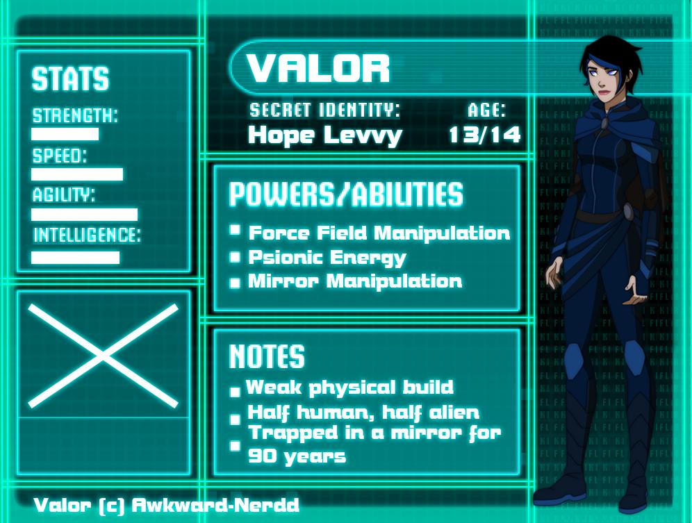 YJ OC: Valor Profile